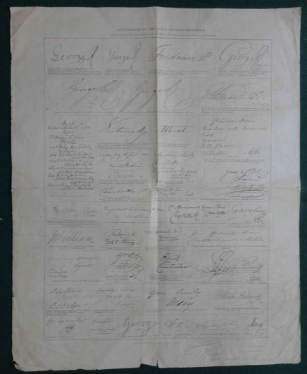 British Autograph Collector Josiah French Signed Royal House Brunswick Autograph